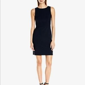 Theory Navy Pinstripe Sheath Career Dress-Size 0